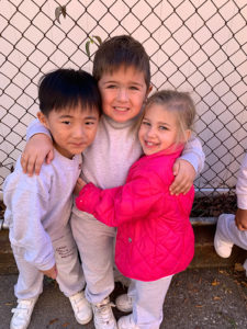 St. Mel's students on playground