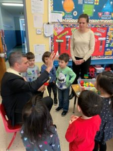 Father Fonti blessed the nursery class on the Feast of St. Blaise